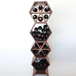 Hive Modular Wine Rack 4 Piece (Walnut)