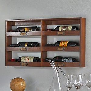 Library 6 Bottle Wine Rack (Horizontal)
