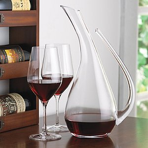 Teardrop Decanter and Fusion Classic Cabernet Wine Glass