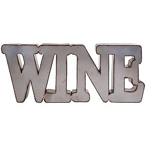 Industrial Metal Wine Wall Sign