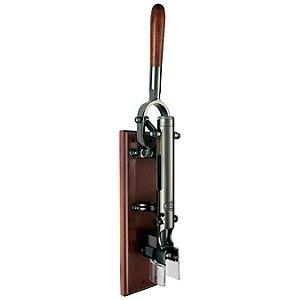 BOJ Wall Mounted Corkscrew with Wood Backing (Black