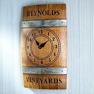 Personalized Wine Barrel Wall Clock