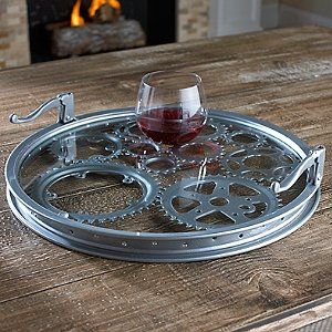 Recycled Bicycle Gears Serving Tray