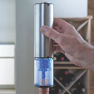 Electric Blue Automatic Wine Opener Wine Enthusiast