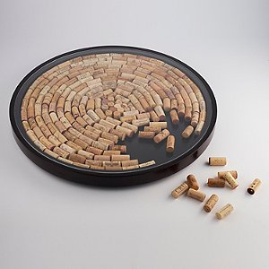 Wine Cork Lazy Susan Kit (Espresso Finish)