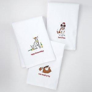 Holiday Dog House Kitchen Towels (Set of 3)