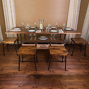 Vino Vintage Farm Style Dining Table with 4