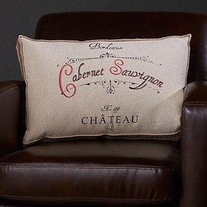 Wine-Themed Accent Pillow (Cabernet Sauvignon)