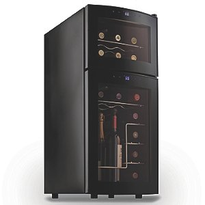 Wine Enthusiast Silent 21 Bottle Dual Zone Wine