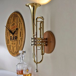 Upcycled Trumpet Sconce