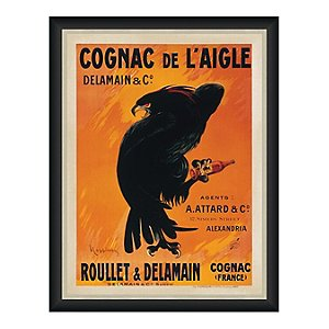 Cognac De L'Aigle Vintage Advertising Print Reproduction (28