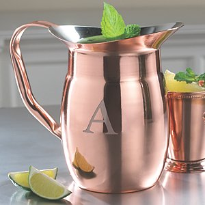 Personalized Copper Pitcher