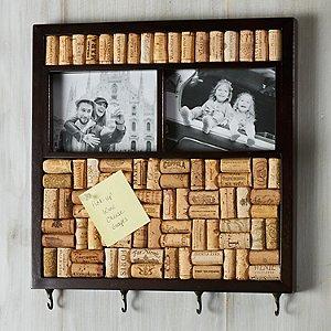 DIY Wine Cork Memo Board with Photo Frame