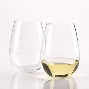 Wine Enthusiast Chardonnay Stemless Wine Glasses (Set of
