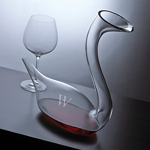 Personalized Swan Decanter