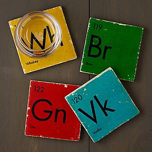Periodic Table of Spirits Marble Coasters (Set of