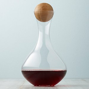 Wood Stopper and Fusion Table Decanter Set
