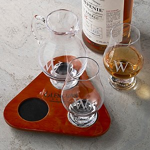 Personalized Glencairn Glass Tasting Set with Water Jug