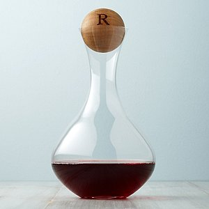 Personalized Wood Stopper and Fusion Table Decanter Set