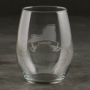 Personalized New York State Tumbler Glasses (Set of