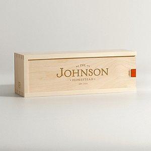 Personalized Family Homestead Wine Box