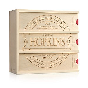 Personalized Family Vintage Wine Box 3 Nights