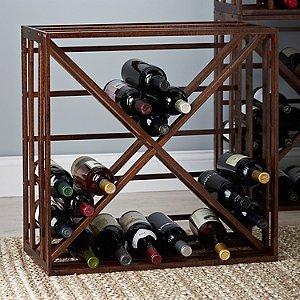 Wooden X Wine Rack