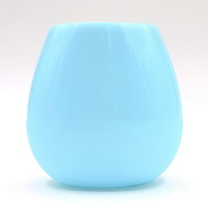 Blue Silicone Wine Tumbler (Set of 2)