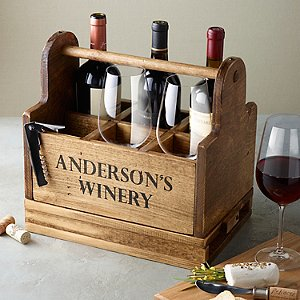 Personalized Wine Tasting Carrier with 6 Fusion Table