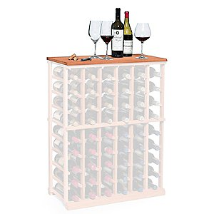 Arched Oak Stave Wine Rack Wine Enthusiast