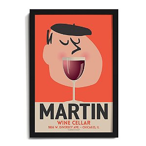 Personalized 'Wine Mouth' Framed Print