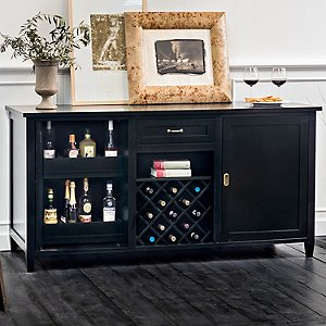 Firenze Wine and Spirits Credenza (Nero)
