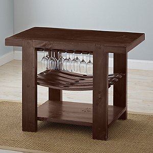 Napa Valley Kitchen Island (Caramel Finish)