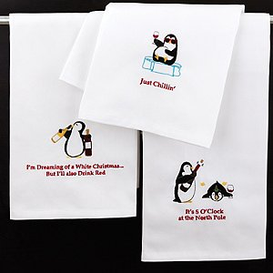 Penguin Holiday Towels