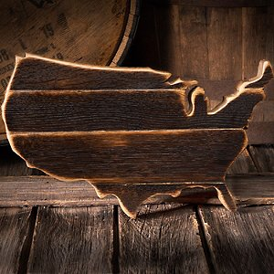 Reclaimed Bourbon Barrel USA