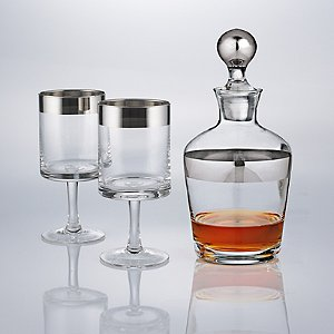 Madison Avenue Short Stem Glasses and Decanter Set