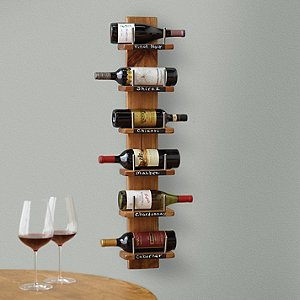 Rustic 6 Bottle Holder with Chalkboard