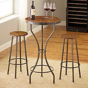 Personalized Heirloom Pub Table and 2 Stools