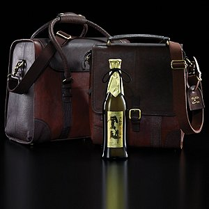 3-Bottle BYO & 6-Bottle Weekender Leather Wine Bag