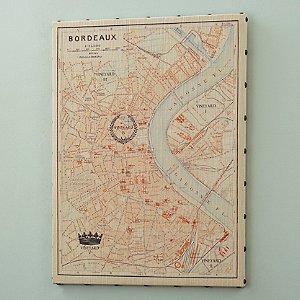 Bordeaux Stretched Canvas Map