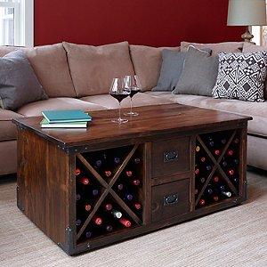 Vintage Wine Storage Coffee Table