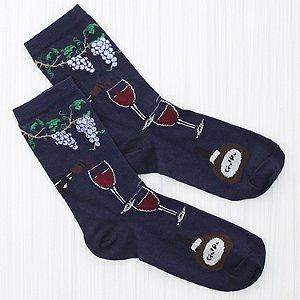 Men's Wine In the Vineyard Socks (Size 10-13)