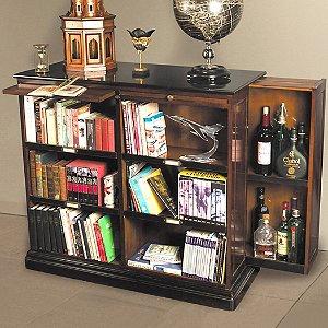Alchemist Bookcase with Hidden Bar