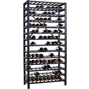 free standing metal wine rack 126 bottle