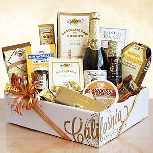 Sparkling California & Artisanal Delights Gift Basket