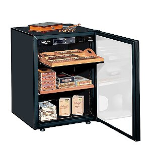 EuroCave Cigar Humidor (Black - Glass Door) (Outlet