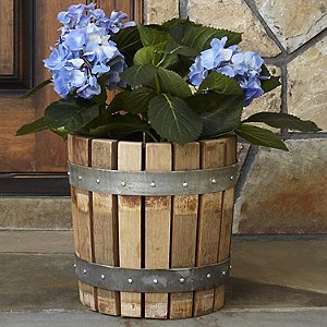 Reclaimed Barrel Stave Planter