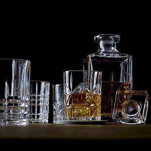 Nachtmann Whiskey Decanter Set with Stopper and Assorted