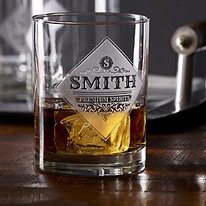Personalized Etched Premium Spirits Whiskey Glasses (Set of