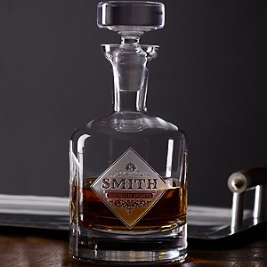 Personalized Etched Premium Spirits Whiskey Decanter